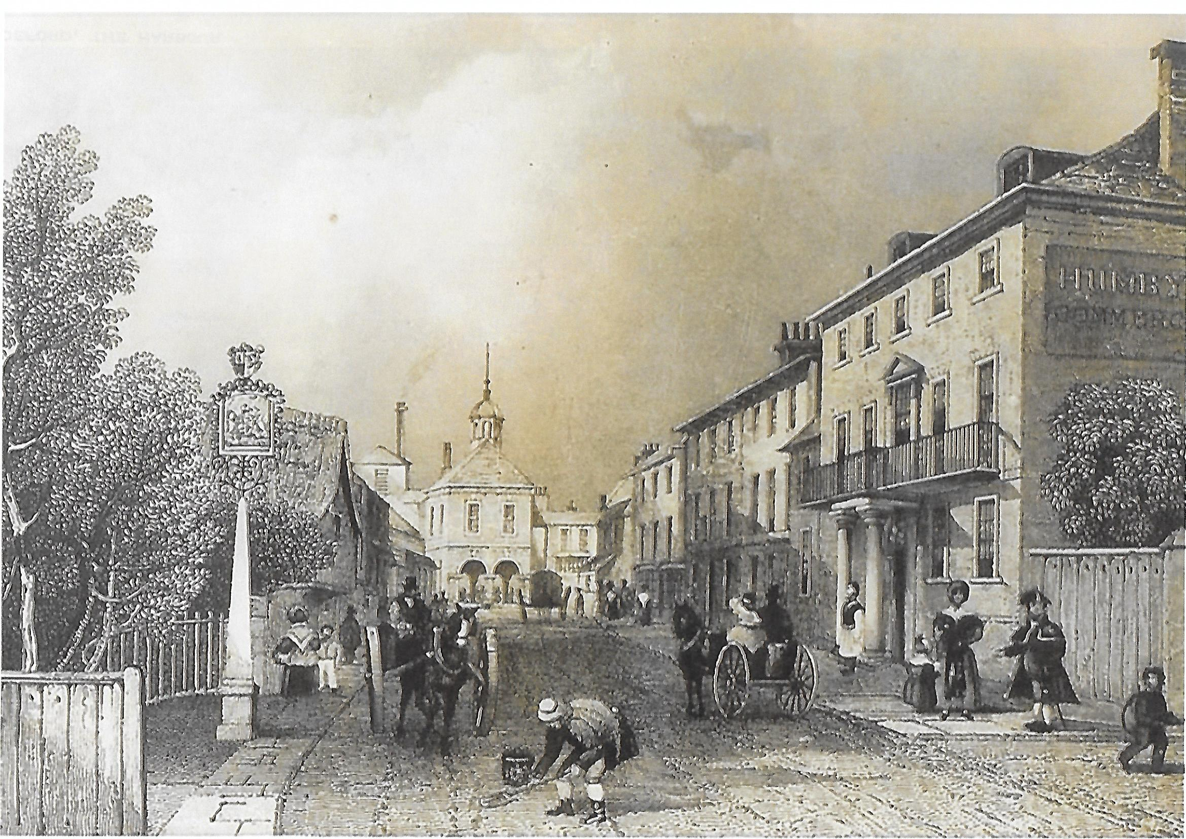 Castle Street Christchurch, Dorset 1855