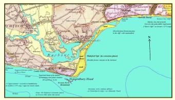 Map of Hengistbury Head in 1867