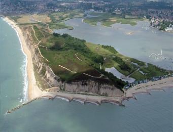 Aerial View of Hengistbury Head, Christchurch, Dorset | Google Earth