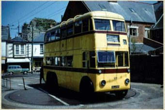 Trolley Bus on Christchurch Turntable