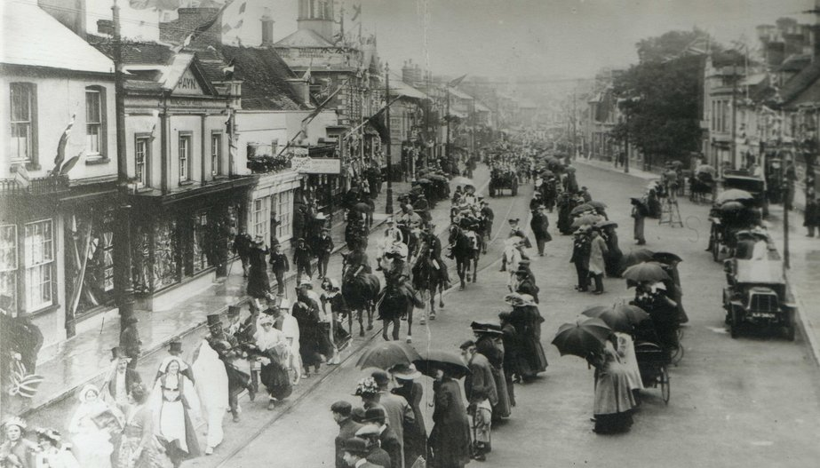Christchurch High Street - King George V's Coronation 22nd June 1911