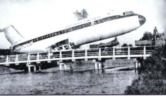 Plane on Avon Causeway