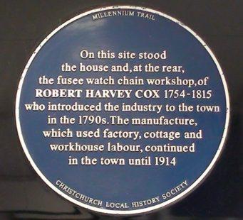 (Site of) Robert Cox's House Plaque