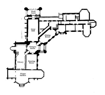 Plan of Highcliffe Castle