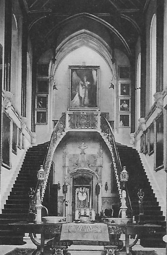 The Hall at Highcliffe Castle, Christchurch, Dorset