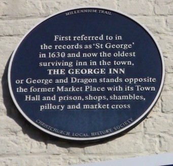 Plaque on the Wall of the George Inn | Hydralib
