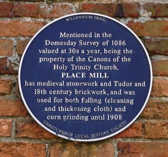 Plaque on wall of Place Mill | Hydralib