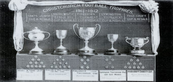 Christchurch Football Club Trophies  1911 to 1912
