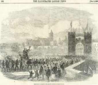 Lyons Procession into Christchurch 1859
