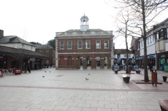 Old Town Hall from Saxon Square