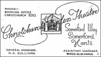Christchurch Theatre Poster