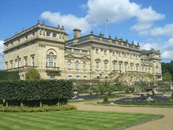 Harewood House seen from the garden