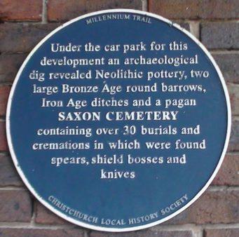 Saxon Cemetery Plaque