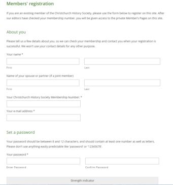 Member's Registration 2