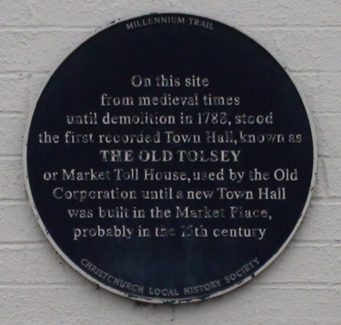 The Old Tolsey Plaque