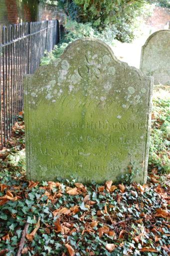Grave; Elizabeth Blackburn, Priory
